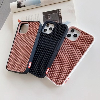 Waffle Case For Apple iPhone 12 Mini 11 Pro Max Xs 10 8 7 plus SE Cover Soft Rubber Silicone Waffle