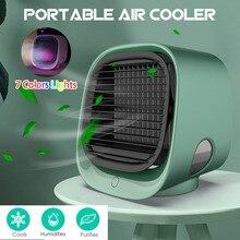 Mini aire acondicionado portátil Multi-humidificador con función purificador USB ventilador enfriador de aire de escritorio con tanque de agua casa 5V