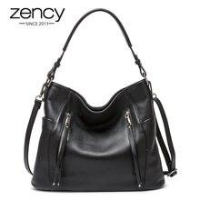 ZENCY yeni varış günlük çanta lüks hakiki deri çanta kadınlar için kol çantası Crossbody Hobo fermuarlı cebi büyüleyici kadın