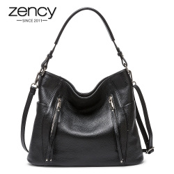 ZENCY New Arrival Daily Handbag Luxury Genuine Leather Bag for Women Shoulder Tote Crossbody Hobo Zipper Pocket Charming Female