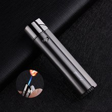 Portable Slender Strip Metal Lighters Inflatable Windproof Gas Lighter Creative Male and Female Cigarette Butane