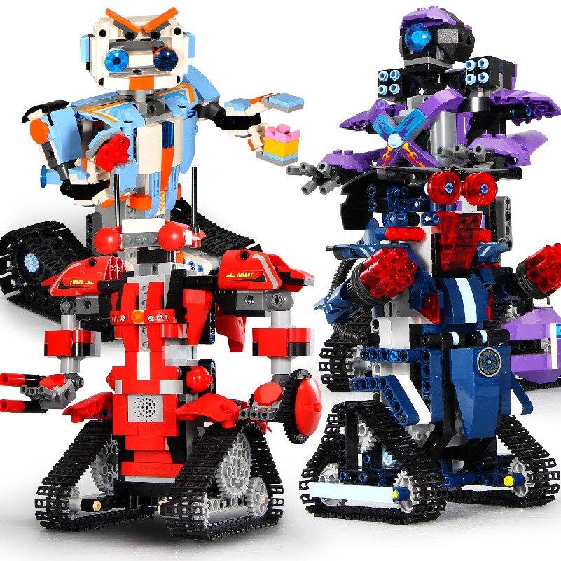 Technics 2.4Ghz radio remote control Tracked robot building block steam model educational bricks smart phone app rc toys