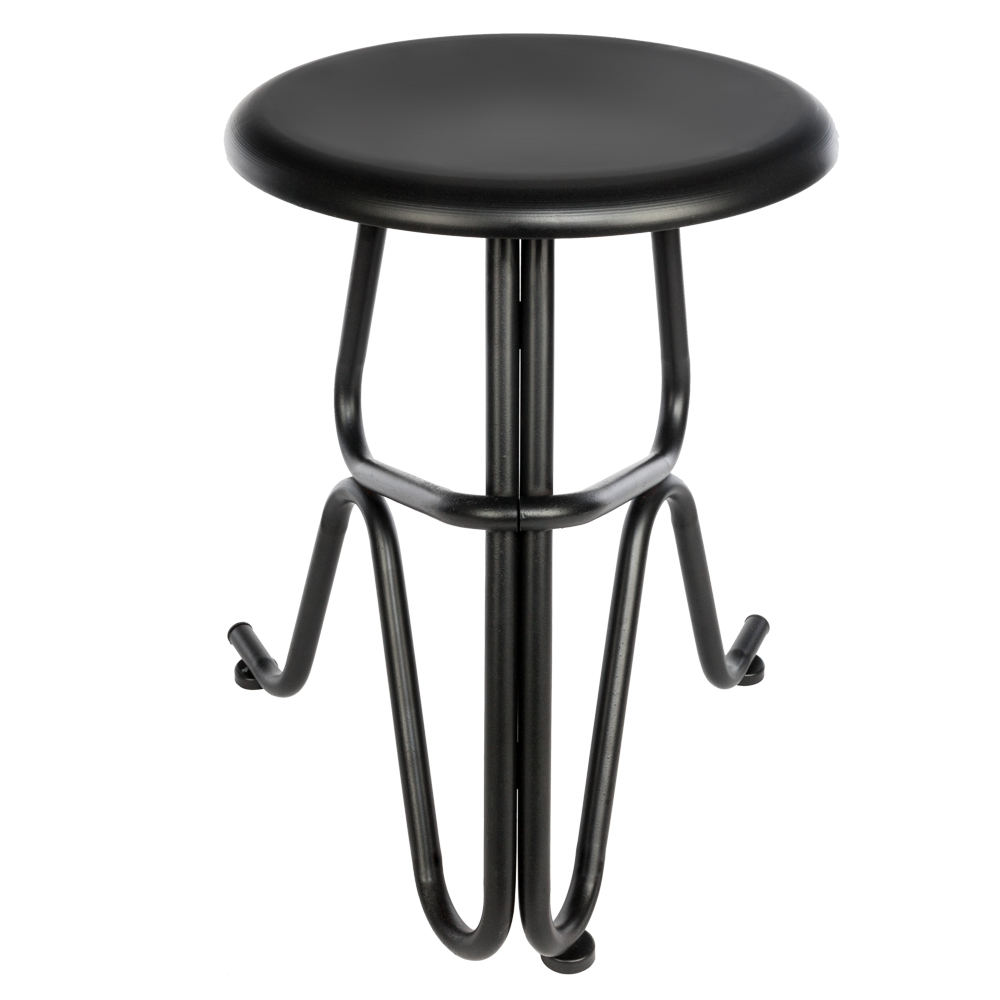 Creative Human Shaped Round Iron Stool Bar Chair Stools Pub Stool Tall Bar Seat Counter Chair Black  - US Stock