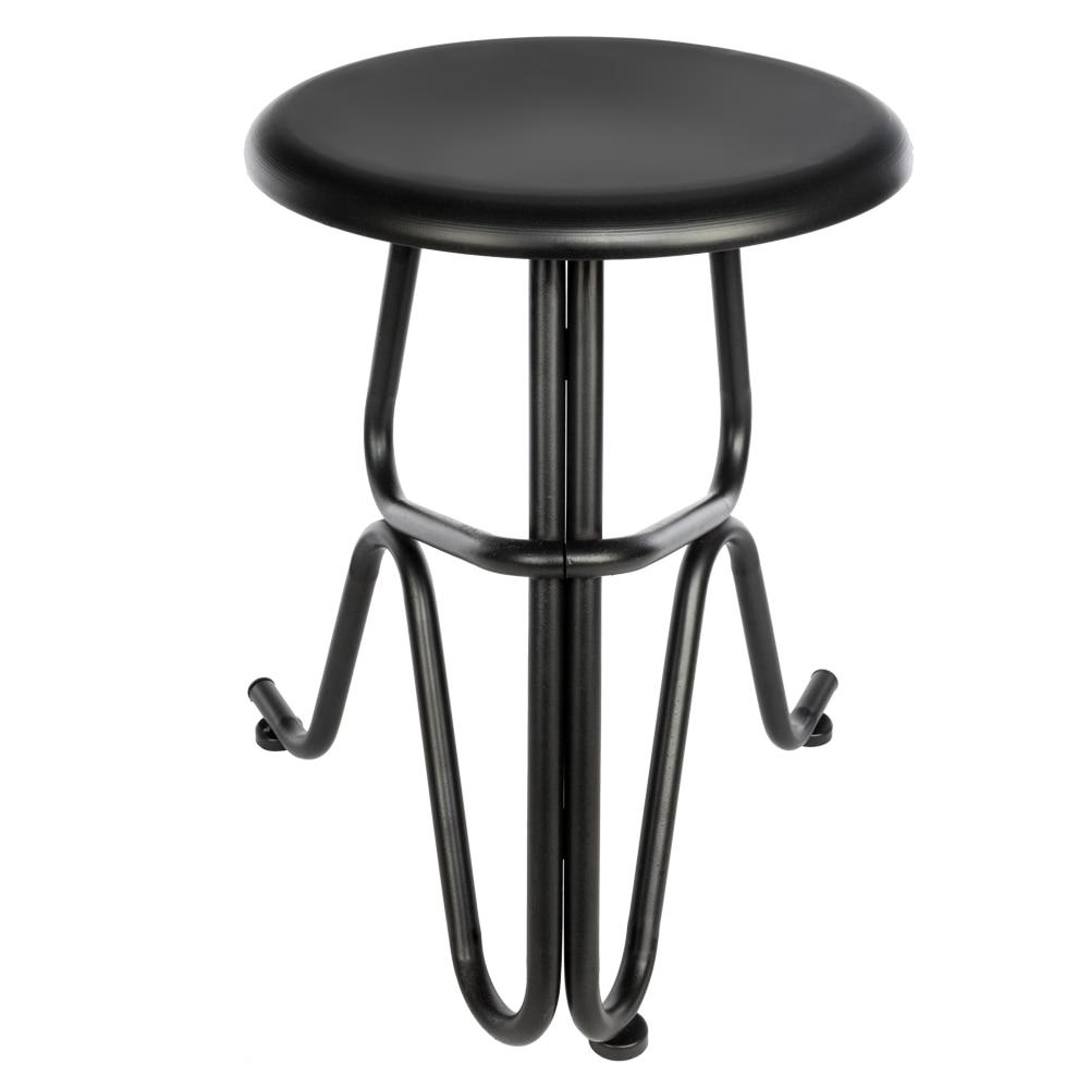 Creative Human Shaped Round Iron Stool Bar Chair Stools Pub Stool Tall Bar Seat Counter Chair Black  - US Stock