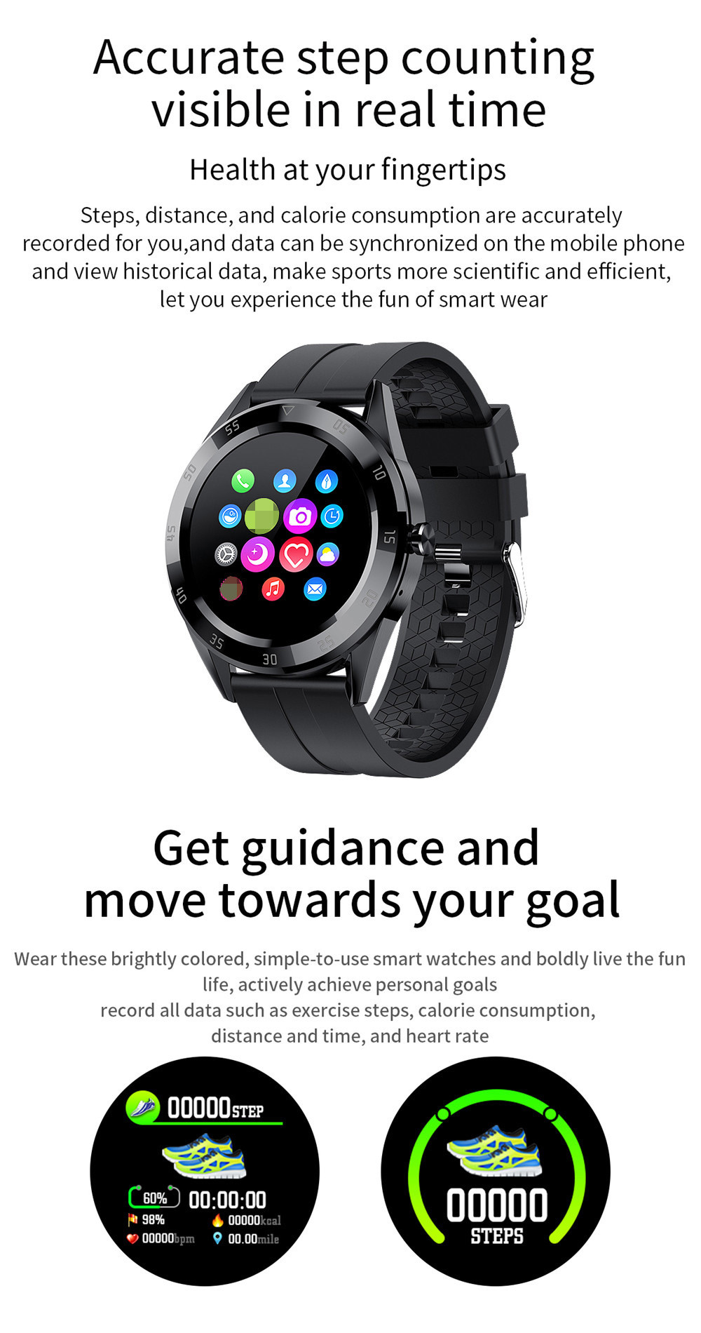 Full Touch Bluetooth Call Smart Watch Men Women Ip67 Waterproof Sport Fitness Tracker Watch Smartwatch Blood Pressure Heart Rate