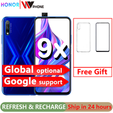 Honor 9x Smart Phone 6 59 inch Lifting Full Screen 48MP Dual Cameras 4000mAh GPU Turbo Mobile Phone cheap Not Detachable 64GB Android Fingerprint Recognition Up To 24 Hours Adaptive Fast Charge Smart Phones Capacitive Screen English