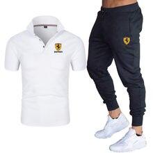 2021 New Men's Sportswear Suits Men's Summer Polo Suits Men's Sportswear Suits Fitness Polo Shirt + Casual Pants Two-Piece Suit