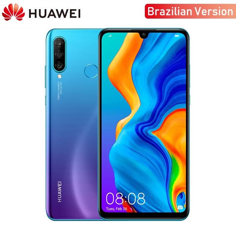 Version brésilienne d'origine Huawei P30 Lite 4GB RAM téléphone Mobile 6.15 pouces Smartphone 32MP 4 * caméras avec Google Pay Android 9.0