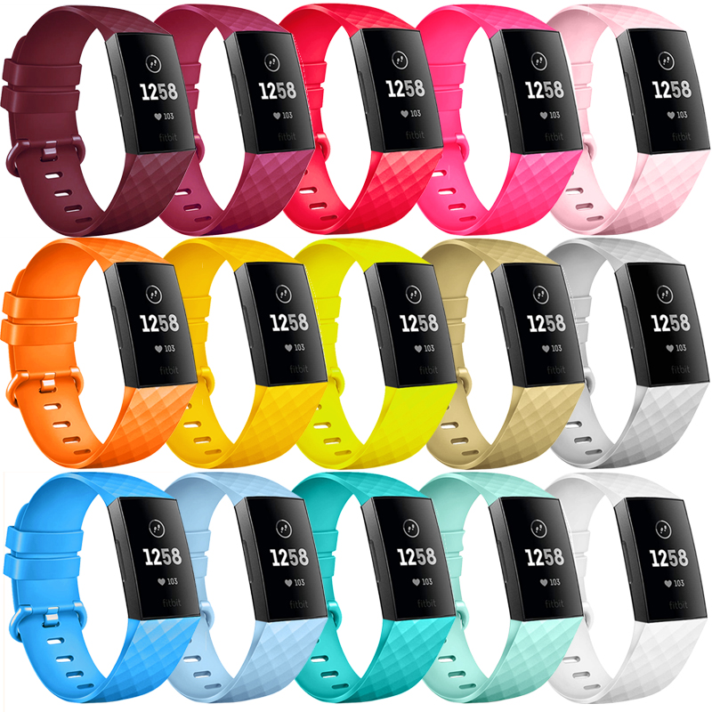 Strap For Fitbit Charge 3 SE Band Replacement Accessories Silicone Wristband Watchband Bracelet For Fitbit Charge 3 4 Small Larg