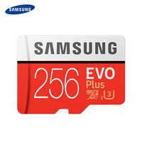 SAMSUNG EVO PLUS de tarjeta de memoria 256GB 100 MB/S U3 SDXC C10 UHS-I grado TF/tarjeta Micro SD Trans Flash Microsd 100% Original