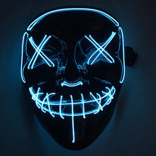 LED Masker 3 Flash Mode Halloween Karnaval Karnaval Pesta Horor Kostum Cosplay Dekorasi Mascara Menakutkan Glow In Gelap Mascarillas(China)
