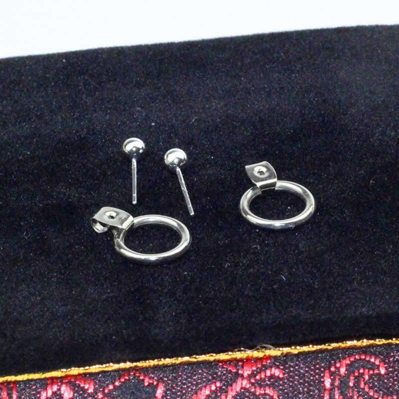 Carter lisa moda jóias ouro/prata bonito ouro cor geométrica círculo pequeno metal parafuso prisioneiro brincos melhor presente para mulher menina
