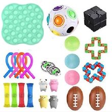 NEW Arrivel Fidget Toys 20/21/22/24PCS Pack Set di giocattoli sensoriali Antistress rilievo autismo ansia Anti Stress Bubble per bambini adulti