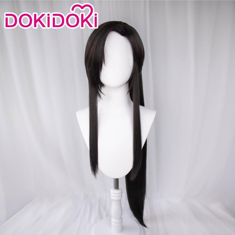 DokiDoki – perruque de Cosplay noire, Manga Tian Guan Ci Fu, Hua Cheng San Lang Ver, perruque de Cosplay ancienne, universelle du ciel