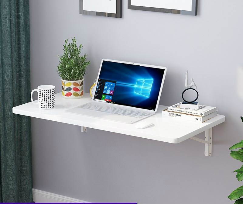 Household Creative Small Apartment Against The Wall Kitchen Table Multi-function Invisible Wall Hanging Computer Desk Foldable