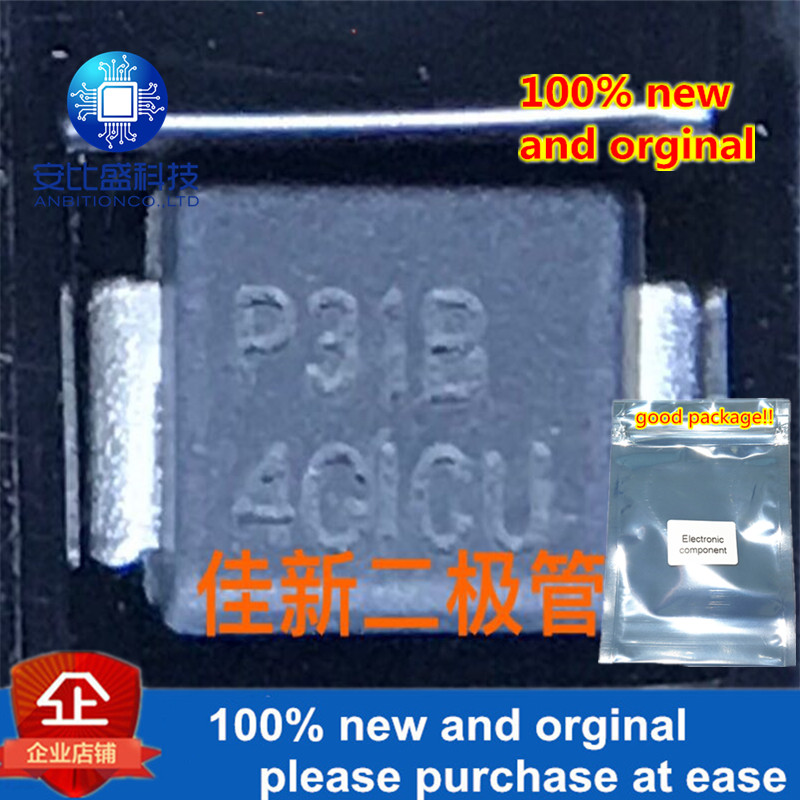 30pcs 100% New And Orginal P3100SBLRP 310V  Dual Chip Lightning Protection And Discharge Diode Silk-screen P31B  In Stock
