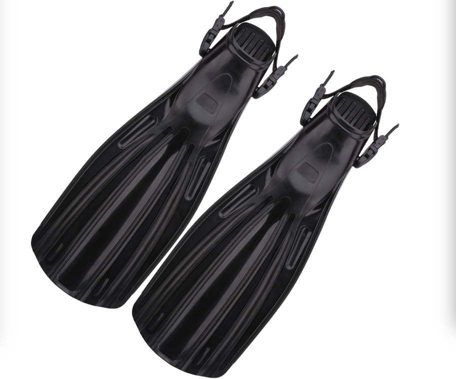 Quick-release Open-heeled Professional Deep-diving Flippers Mid-long Fins Free Diving Lung Equipment