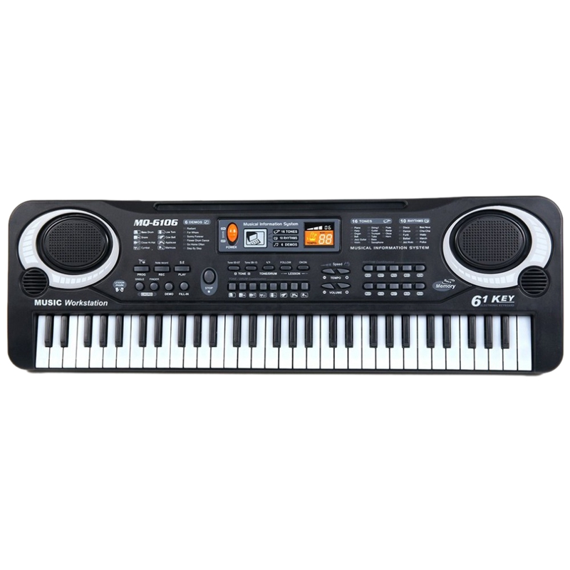 61 Keys Digital Music Electronic Keyboard Board Toy Gift Electric Piano Organ For Kids Multifunction And Delicate