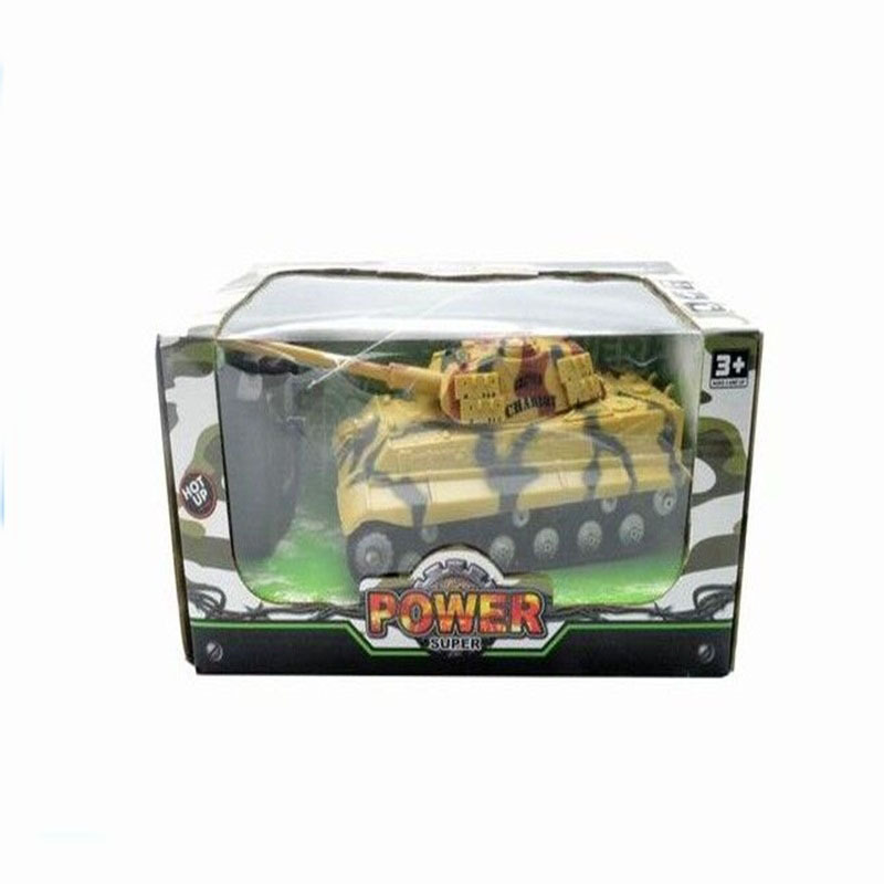 Children Electric Remote Control Tank With 3D Light Military Model Plastic Four-Way Remote Control Car Toy Remote Control Tank