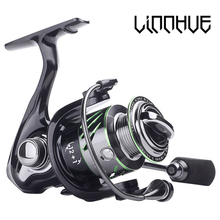 LINNHUE 9+1Metal Bearings Fishing Reel Metal wire cup 5.2:1 Gear Spinning 1000H Drag Power Carp Bass Tackles Pesca
