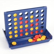 Connect 4 In A Line gioco da tavolo giocattoli educativi per bambini pieghevole bambini bambini Line Up Row Board Puzzle giocattoli