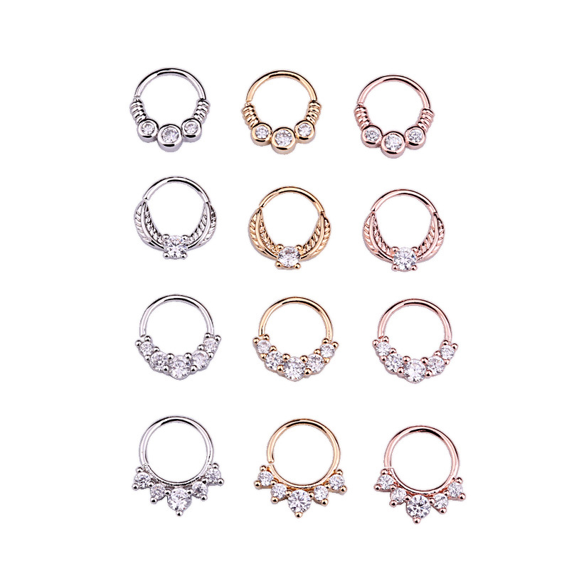 Hypoallergenic Women Man Nose Ring Stainless Steel Nose Piercing Fake Piercing Pircing Body Jewelry Helix Cartilage Tragus Ring