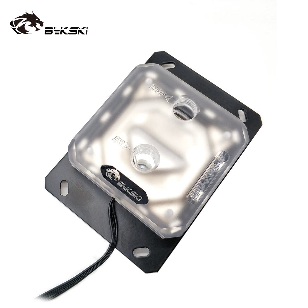 Image 5 - Bykski CPU Water Block use for AMD RYZEN3000 AM3/AM3 /AM4 X570  Motherboard Socket RGB support 5V 3PIN GND Header to MotherboardFans