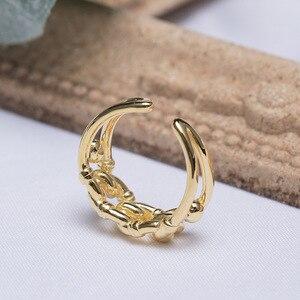 Image 5 - Prata esterlina 18k ouro amarelo tamanho livre, nó torcido aberto, marca de moda, vintage, presentes do amor dos namorados 925 anéis de anéis