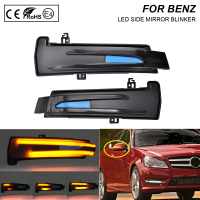 2X Smoke LED Dynamic Mirror Blinker Light Turn Signal Lamp For Benz C Class W204 E Class W212 A Class W176 B Class W246