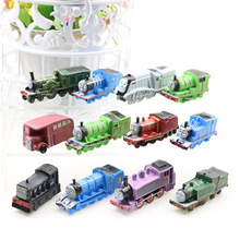 12pcs/set Train Toys Track Railway Vehicles PVC Collectible Mini Model Toys Lots Action Figure For Boys Birthday Christmas Gifts cute nyan board cat in danboard mini pvc action figures collectible model toys gifts 10pcs set 7cm