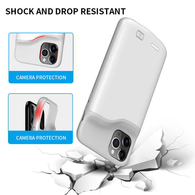 PINZHENG Battery Charger Case For iPhone 7 8 6 6S Plus Charging Case For iPhone X XS 12 11 Pro Max Portable Power Bank Charger 3