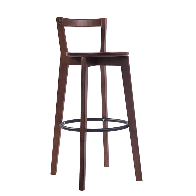 Bar Chair Solid Wood Modern Minimalist Bar Chair Home Bar Chair Front Desk Back Stool Bar Stool Nordic High Stool