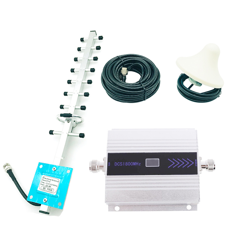 High Quality GSM Repeater Amplifier 4G Signal Booster W/ Yagi 1800MHz LTE DCS For Mobile Cellphone Network Connecting