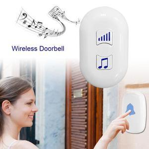 Portable Wireless Doorbell Whi
