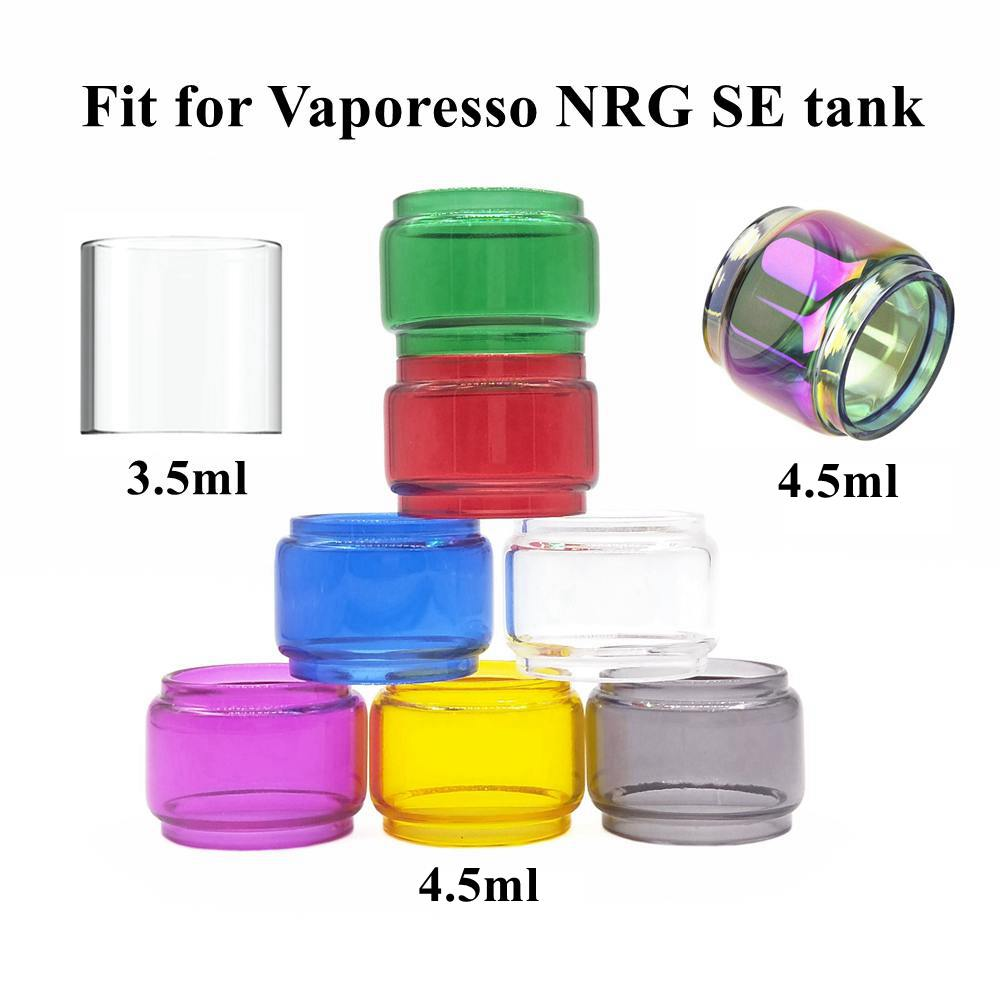 HXJVAPE Original Replacement Pyrex Bubble Fatboy Glass Tube Tank For Vaporesso NRG SE Tank Atomizer Many Colors