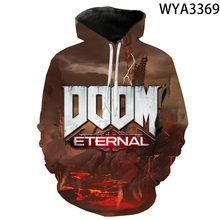 3D Printed Games Doom Eternal Men Women Hoodies Sweatshirts Streetwear Pullover Long Sleeve Coats