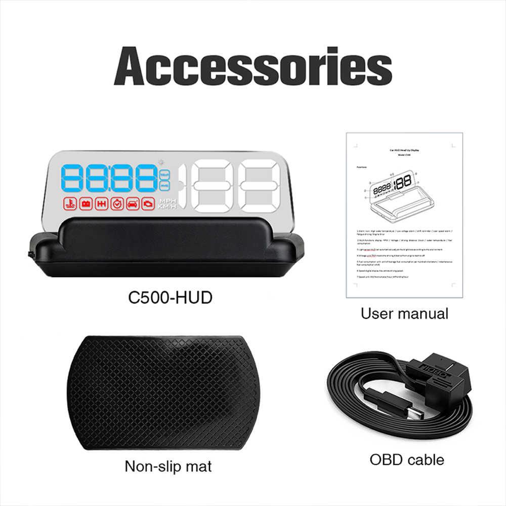 中国最高OBD2 hudミラー車のヘッドアップディスプレイデジタル速度プロジェクターセキュリティ警報更新バージョン油温。ターボ圧力