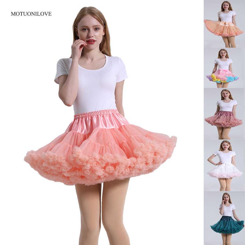 Lolita Pettycoat ผู้หญิง MINI Petticoat Ball Tulle PUFFY สั้น VINTAGE แต่งงานเจ้าสาว Petticoat กระโปรง Rockabilly Tutu