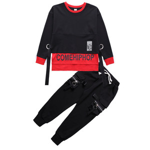 Image 3 - Spring 2019 baby clothes for boys Long Sleeve childrens costume for Baby Boys girls hip hop Jazz Dance Costume t shirt for kids