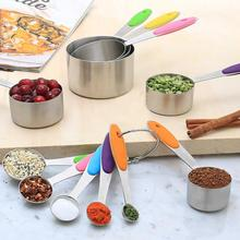 10Pcs Stainless Steel Home Kitchen Baking Cooking Tool Measuring Cups Spoons Set 5 measuring cups and spoons