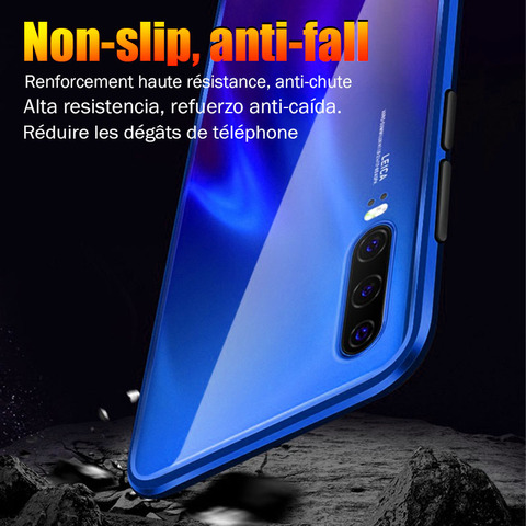 Cases For Huawei P30 P20 Lite Mate 20 Pro P Smart 2019 Case Magnetic Adsorption Metal Tempered Glass Back Cover For Huawei P30 Multan