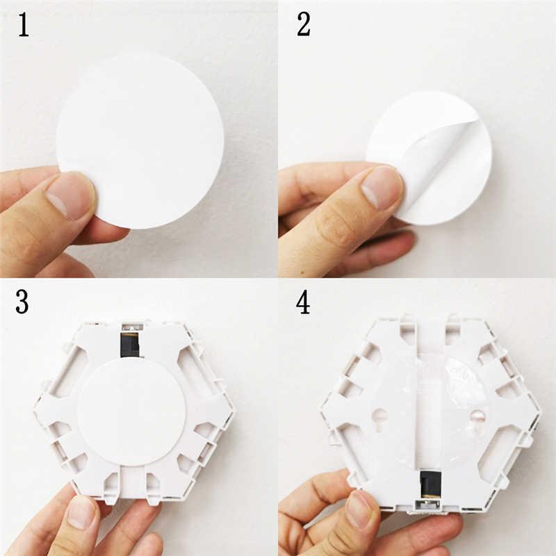 Moderno 3w led luzes de parede lâmpada toque quântico sensível ao toque iluminação led arandelas magnético criativo diy interior sala estar decoração