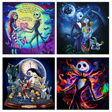 5D DIY Full Square Round Diamond Painting Halloween Skull Jack Arts Craft Canvas Embroidery Cross Stitch for Home Decor