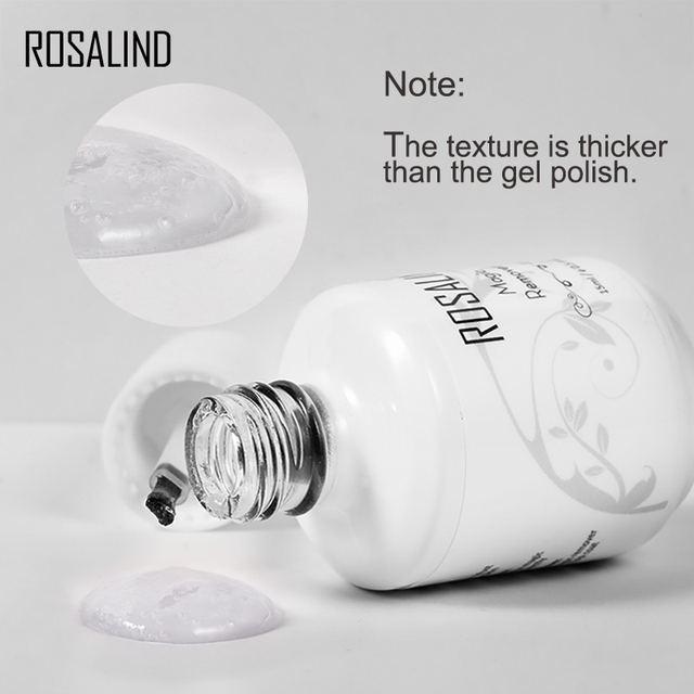 ROSALIND Magic Remover Gel Nail Polish Remover Within 2-3 MINS Peel off Varnishes Base Top Coat without Soak off water 6