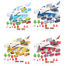 Toy Aircraft Simulation-Track Passenger Plane-Police Fire-Rescue Music-Story Car Inertia