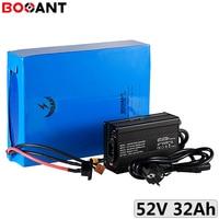 52V 30Ah electric bike battery for Bafang 500W 750W 1000W 1500W motor 51.8V 48V ebike li-ion battery for Panasonic 18650 cell