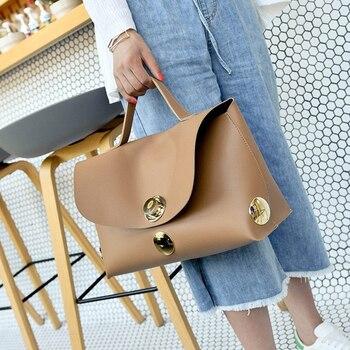 Boston Handbag Fashion Shoulder Bag Women Leather Large Capacity Big Tote Ladies Casual Versatile Bags