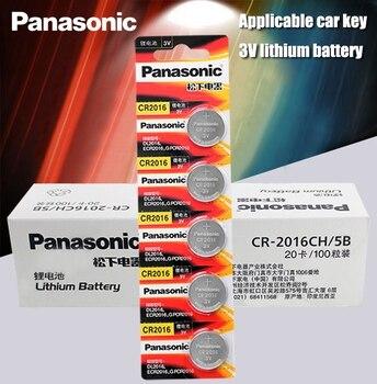 Panasonic Top Quality Li-ion Battery 100PCS/LOT 3V Li-ion cr2016 Button Battery Watch Coin Batteries cr 2016 DL2016 ECR2016 GPCR