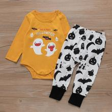 Fashion 2019 Cute Toddler Baby Girls Boys Clothes Halloween Costume Long Sleeve Romper + Pants Outfits Set