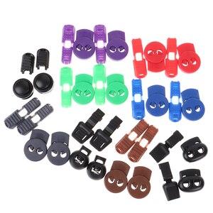 1 par No atar cordones cerraduras elástico Tieless cordones de clip con hebillas cerradura para zapatillas de deporte botas Casual y zapatos de trabajo zapatos